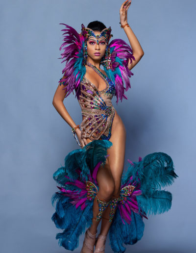 Frontline OPTION 2 Monokini  With Collar & Feathered Legs